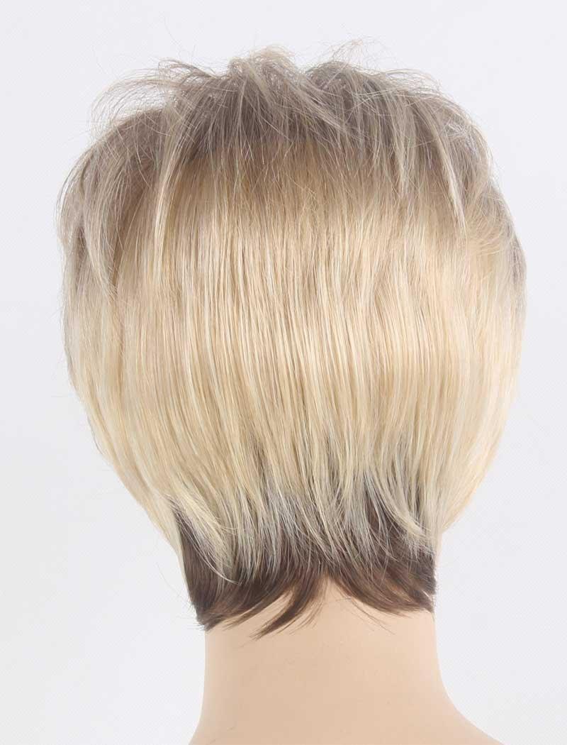 Tsnomore - Elegante peluca corta con cardado de pelo negro y rubio mezclado para mujeres: Amazon.es: Belleza