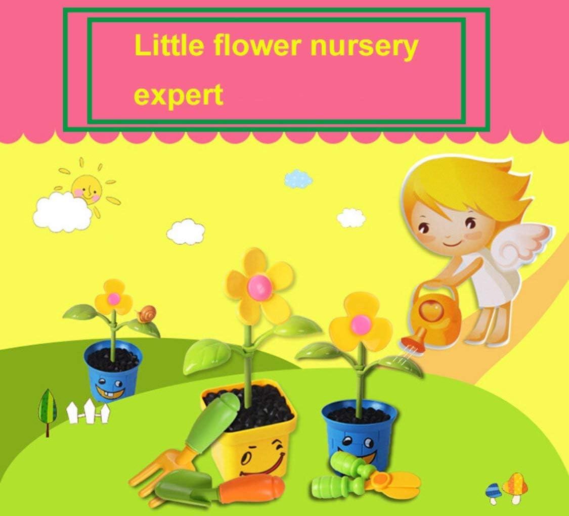 Dynamovolition Plastic Garden Planting Watering Tools kit Cartoon Flower Preschool Educational Toys Birthday Gift