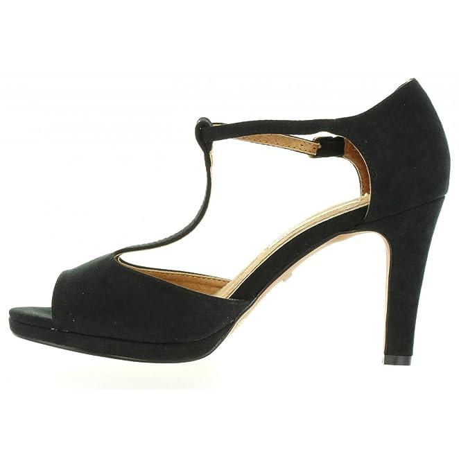 Zapatos de Tacón de Mujer Maria Mare 65836 Text Suave Negro Talla 40 Gy9ygf