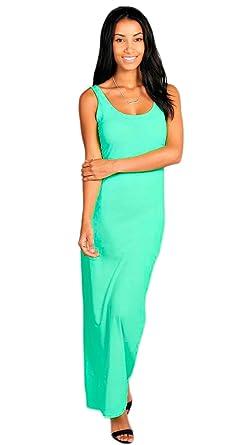 20efd2be046 Femmes Mesdames pour Femme Dos Nageur Muscle Jersey Maxi Robe d été Plus  Taille 8