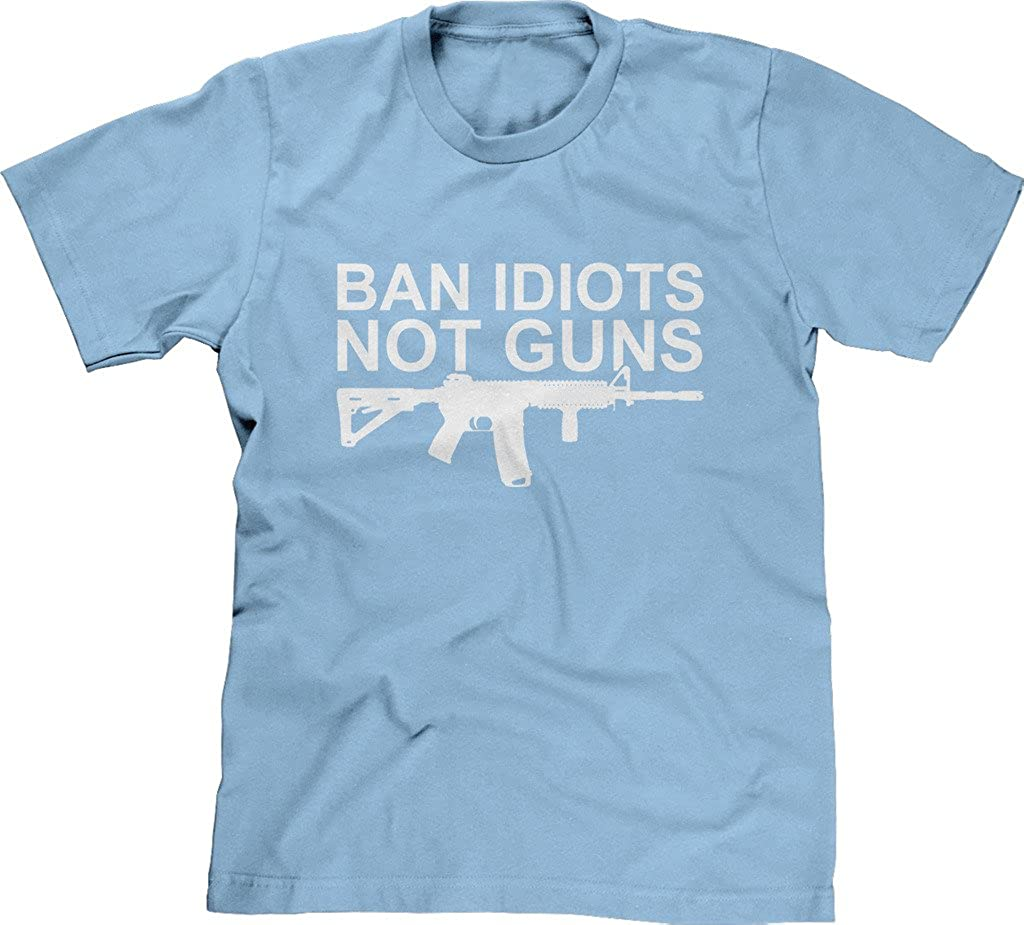 5c334617 Amazon.com: Blittzen Mens T-shirt Ban Idiots Not Guns: Clothing