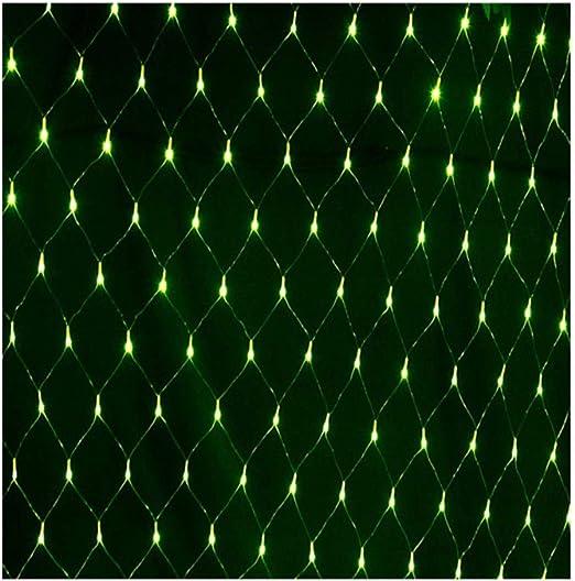 MLX Luces de Hadas de Rejilla, Luces Decorativas Impermeables de jardín de Navidad, Luces de Fondo de Malla de Boda Festiva, Luces LED 6 * 4M 880, Verde: Amazon.es: Jardín