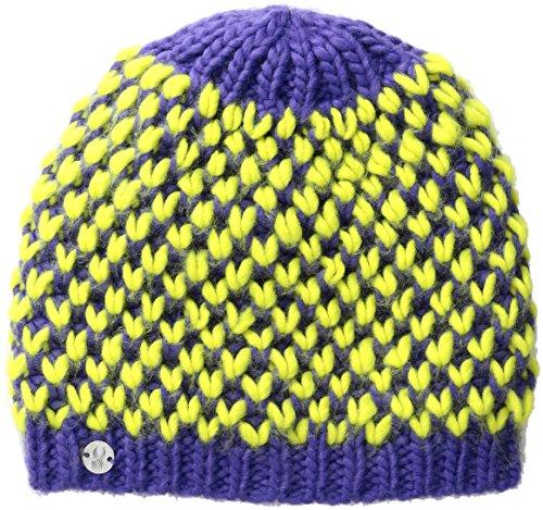 Spyder Girls Multi Berry Hat, Pixie/Acid, One Size