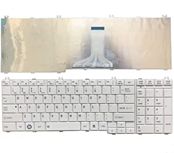 White Laptop Replacement Keyboard Fit Toshiba Satellite L755D-S5361 L775D-S7107 L775D-S7108 L775D-S7110 L775D-S7112 L775D-S7132 0KN0-Y32US03 US Layout