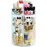 360 ° Rotating Makeup Organiser,Makeup Organizer 360° Rotating Adjustable Cosmetic Holder 320 X 210 Mm. Acrylic Rotating 360 Degree Crystal Adjustable Jewelry Perfumes Display Stand Box For Bedroom