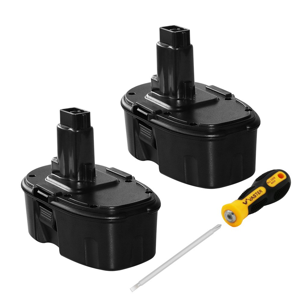 DC9096 3.6Ah 18V Replace Battery for Dewalt DC9098 DC9099 DW9095 DW9096 DW9098 DW9099 DE9039 DE9095 DE9503 Ni-Mh Cordless Power Tools Batteries 2PACK