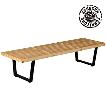 Banco de madera de la plataforma del estilo de SongSen George Nelson ...