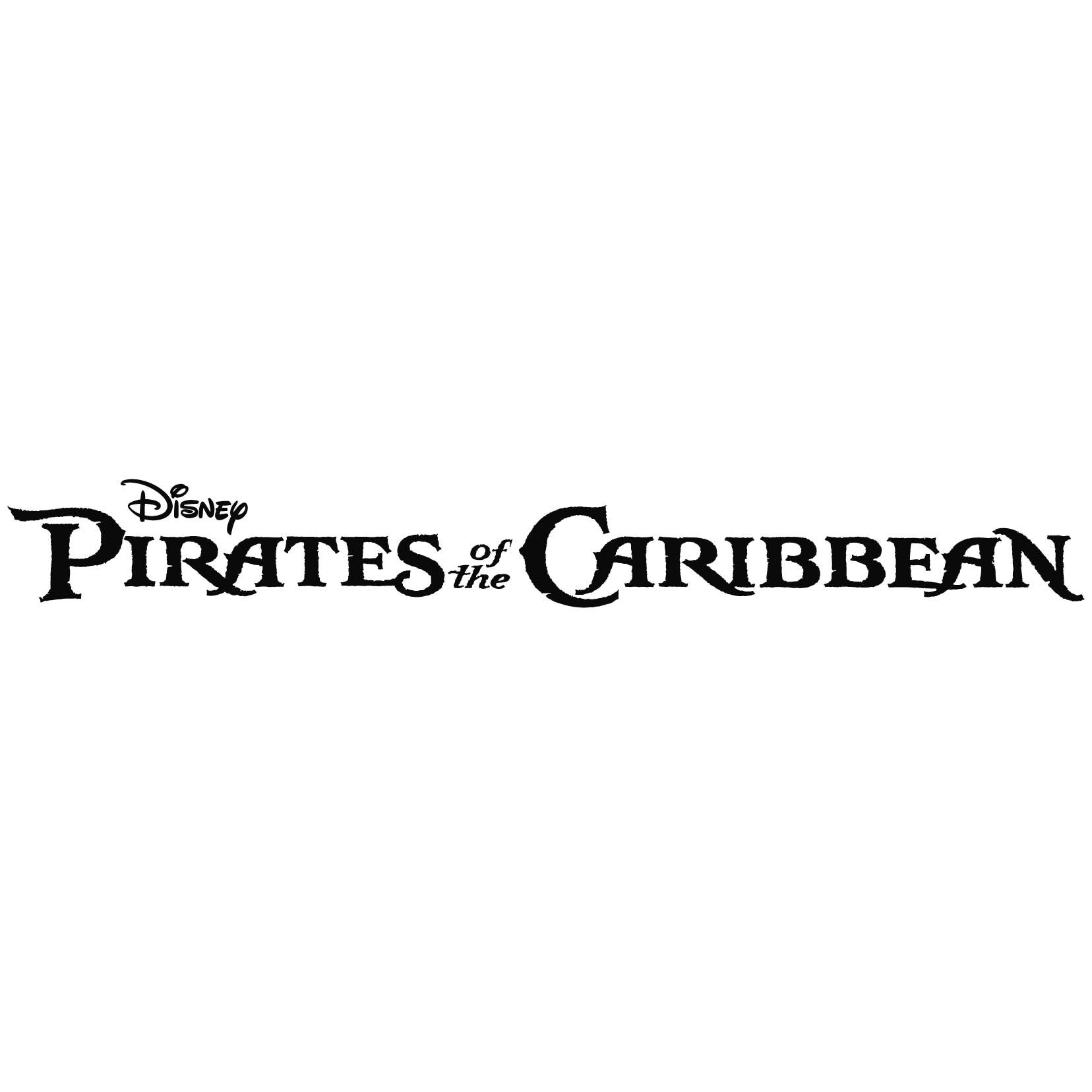 Pirate of the Carribean Logo Vinyl Decal Sticker - For wall, vehicle, computer, home decor (184x22 inch, Gloss Black)