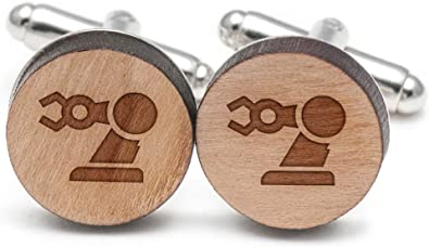 Wooden Accessories Company Wooden Tie Clips with Laser Engraved Llama Design Cherry Wood Tie Bar Engraved in The USA