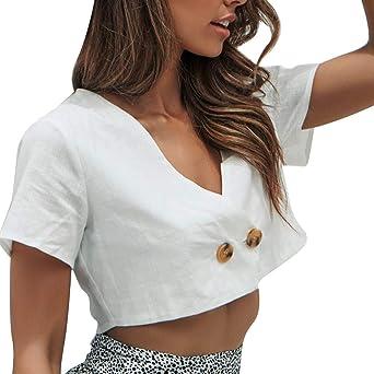Costura Color de ContrasteTops Mujer Deporte Ronamick Verano Camisetas Mujer Manga Larga Sexy Blusa Blanca Niña Verano Camisa Cuadros Mujer(Blanco,M): Amazon.es: Iluminación