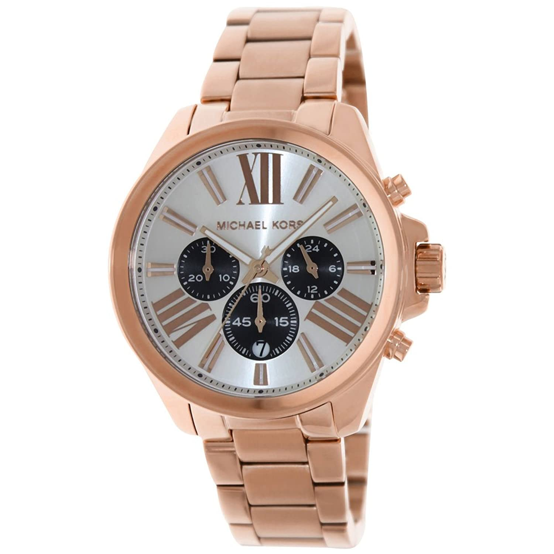 Amazon.com: Michael Kors Silver Dial Stainless Steel Chrono Quartz Ladies Watch MK5712: Michael Kors: Watches