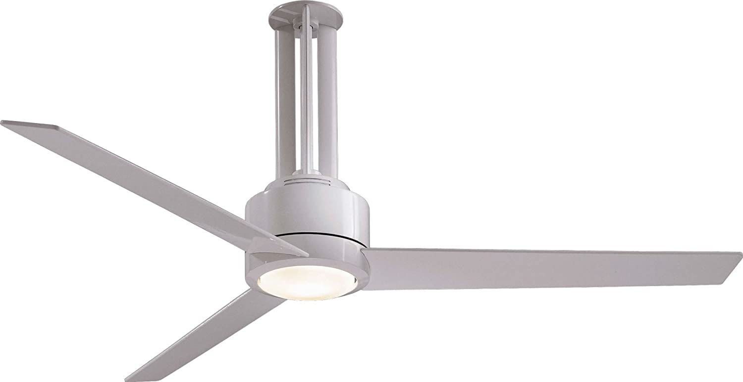 """Minka-Aire F531-L-WH, Flyte, 56"""" Ceiling Fan, White - Wall Sconces ... for Ceiling Fan Top View  565ane"""