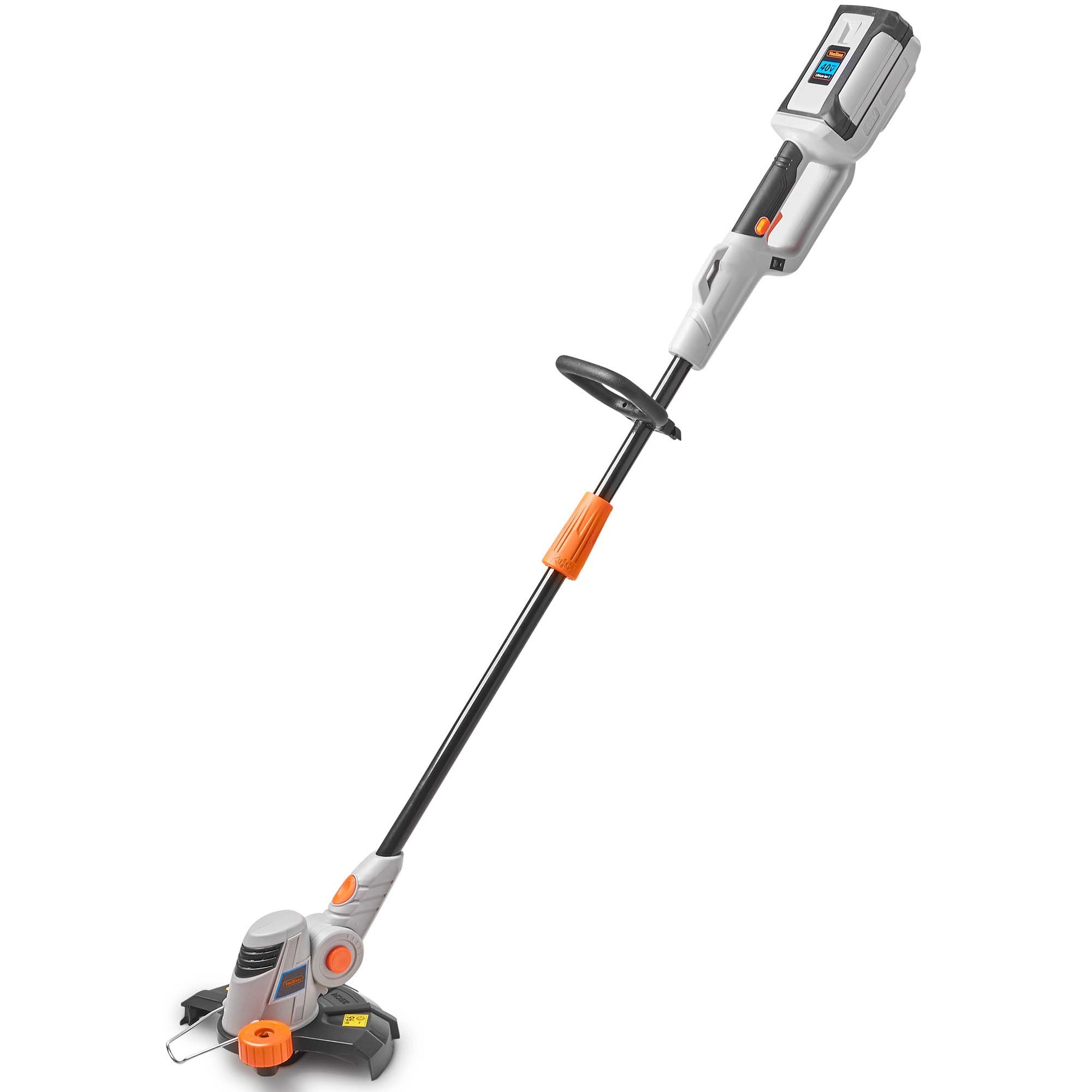 VonHaus 40V Max Cordless 9.8'' Grass String Trimmer/Edger with Angle Adjustment and Head Rotation - Includes 2.0Ah Lithium-ion Battery and Charger