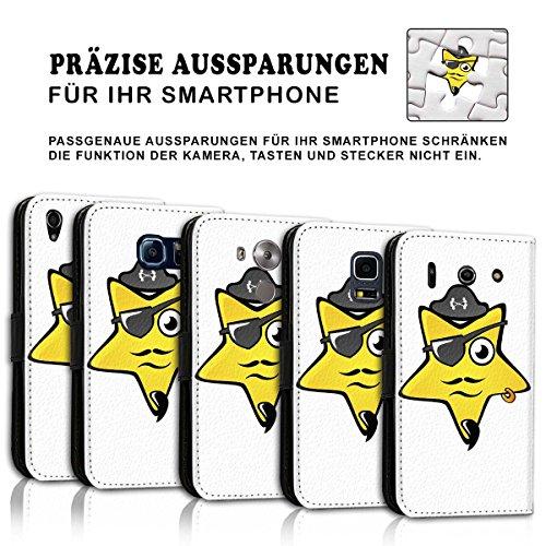 Wallet Book Style Flip Handy Tasche Case Schutz Hülle Schale Motiv Etui für Apple iPhone 5 / 5S - Design Flip MV46