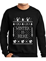 TeeStars - Winter Is Here Ugly Christmas Sweater Sweatshirt
