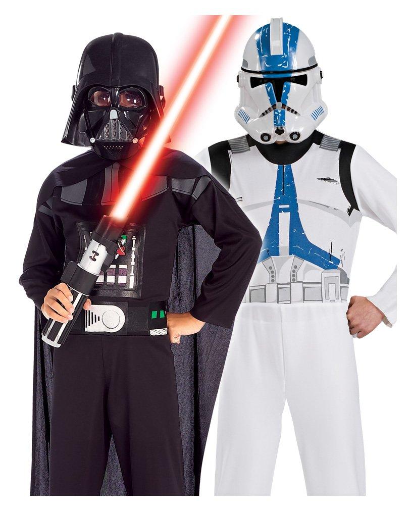 Darth Vader y soldado clon Niño de traje determinada: Amazon ...