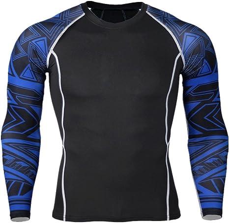 Deportiva Compresión para Hombre,TieNew Camiseta Térmica de Compresión de Manga Larga Para Hombre: Amazon.es: Deportes y aire libre