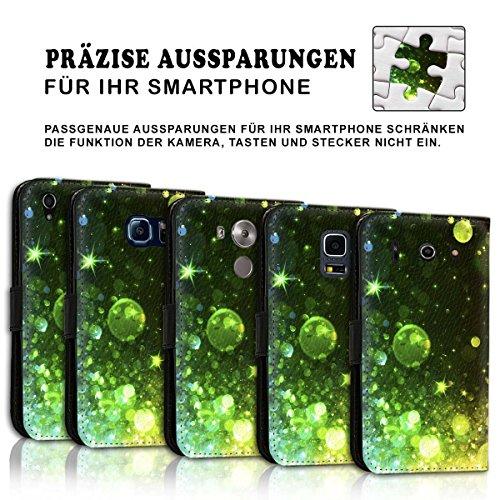 Wallet Book Style Flip Handy Tasche Case Schutz Hülle Schale Motiv Etui für Apple iPhone 6 / 6S - Design Flip MVD141