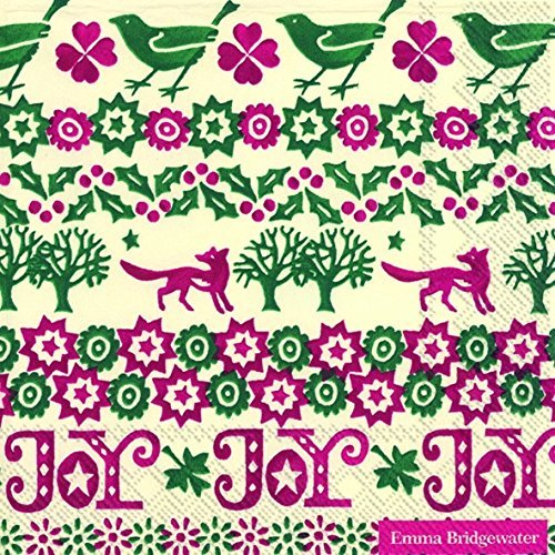 Emma Bridgewater Christmas Joy New luxury traditional paper table napkins 20 in pack by Emma Bridgewater by NULL (Image #1)
