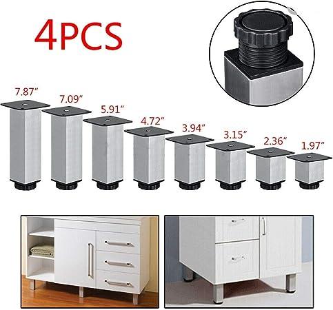 Amazon Com 4x Stainless Steel Kitchen Cabinet Leg Square Sofa
