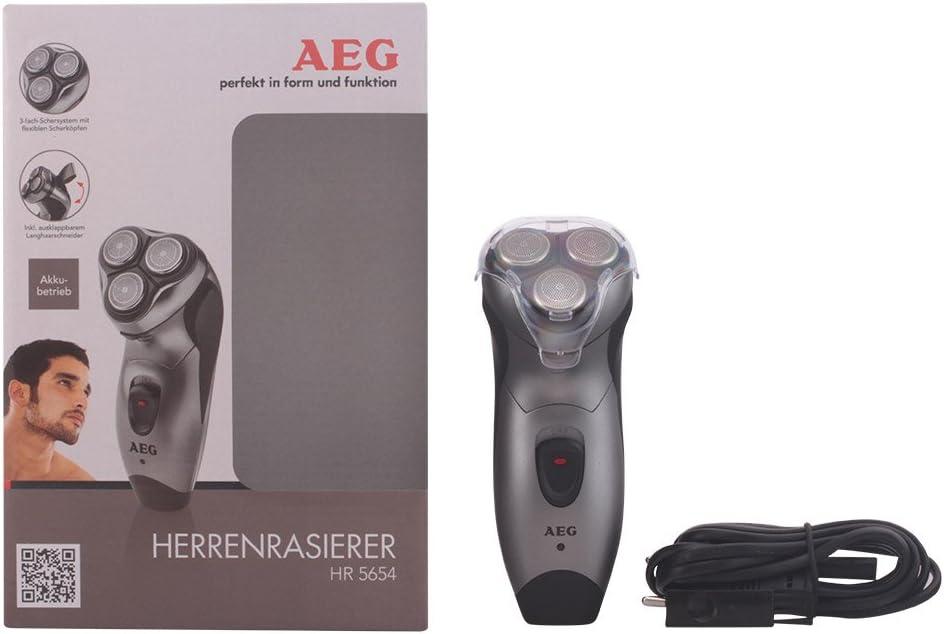 AEG HR 5654 - Afeitadora eléctrica rotativa para hombre, recorta patillas, color negro y antracita: AEG: Amazon.es ...