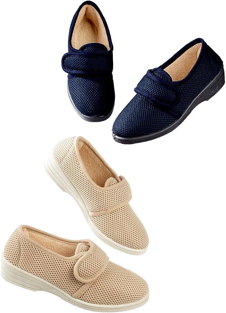 waschbar Seniorenhilfe Halbschuh Haluxschuhe Pantoffeln Verschiedene Gr/ö/ßen /& Farben Damen Unbekannt Damenschuh Klettverschluss Hausschuh