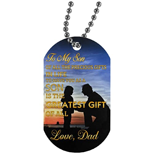 Inspirational Dad Mom Son Dog Tag Jewelry