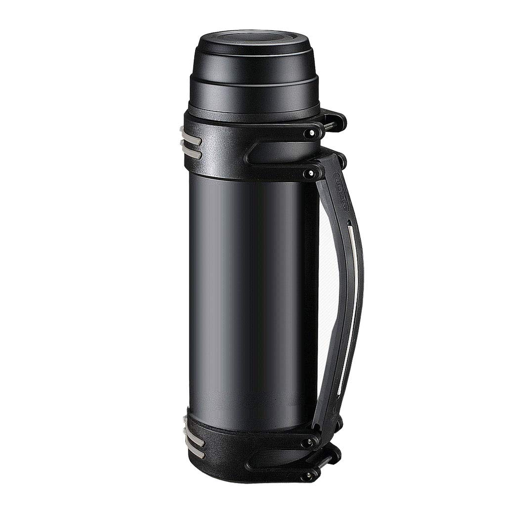 LRXG Insulation Kettle Pot Bottle, Household Large Capacity Hot Water 304 Stainless Steel Outdoor Travel Cup 2000L (color : BLACK)