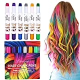Hair Chalk Blue Spray 6 Colors Non-Toxic Temporary Color for Girls Boys, Ideal Christmas Birthday Party Easter Egg DIY Painting Gifts for Kids for Age 4 and Plus