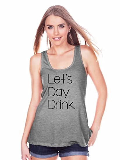 05682c1cf73b06 Amazon.com  7 ate 9 Apparel Womens Let s Day Drink Tank Top  Clothing