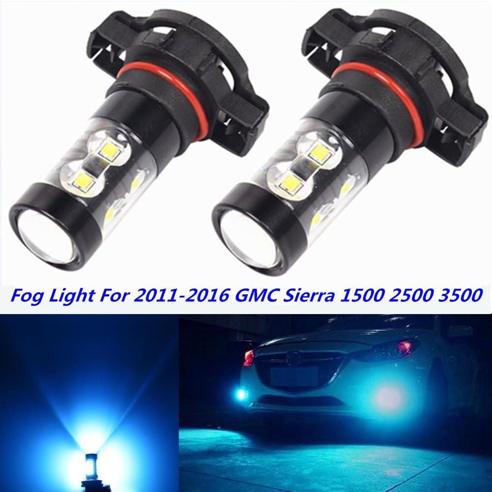3000K YELLOW 5202 LED Fog Light for GMC Sierra 1500 2500 HD 3500HD 2007-2015