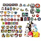 """Disney Official Trading Pin Lot of 20 Lapel Collector Pins! No Duplication! Featuring a 3 Pack of Disney """"Tsum Tsum"""" stackable figures! Produced By Owl Castle Toys!"""