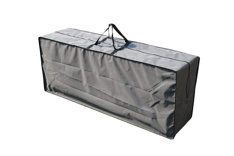 SORARA | Copertura Protettiva e Cuscino Carry Bag | Grigio | 125 x 32 x 50 cm (L x L x A) | Resistente all'Acqua | Forte e Durevole | Premium | Mobilia da Giardino e Patio