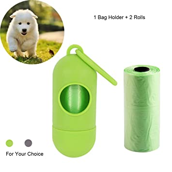 RCRuning-EU dispensador Bolsas Perro, Poo Bag Holder for Dogs, Dog Waste Bag Holder, Poop Bag Rolls Dispenser, with 2 Rolls (Verde): Amazon.es: Productos ...
