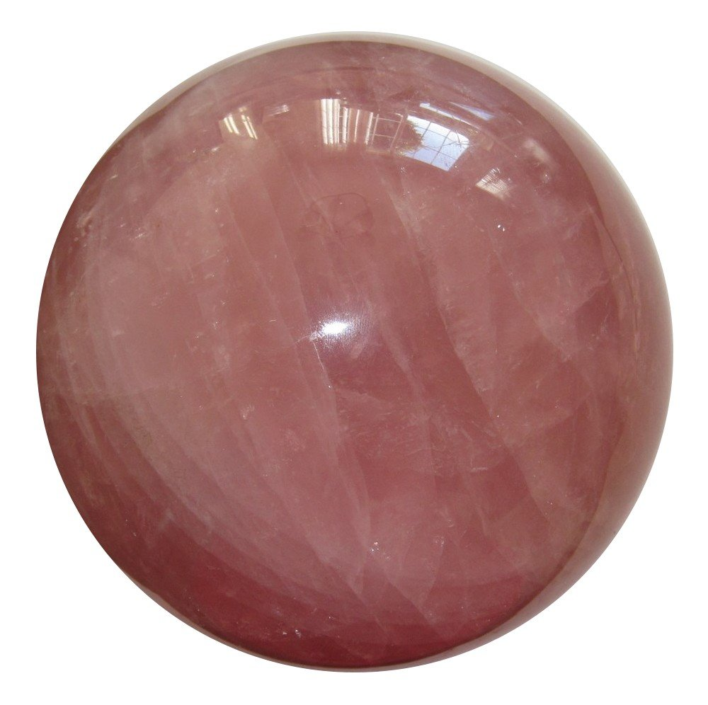 Rose Quartz Ball 01 Premium Pink Crystal Clear Madagascar Quality Love Energy Stone Sphere 4.5''