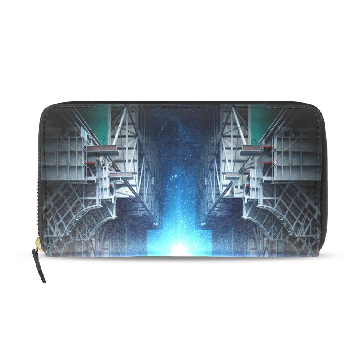 Womens Wallets Kaleidoscope Abstract Mosaic Background Leather Passport Wallet Change Purse Zip Handbags