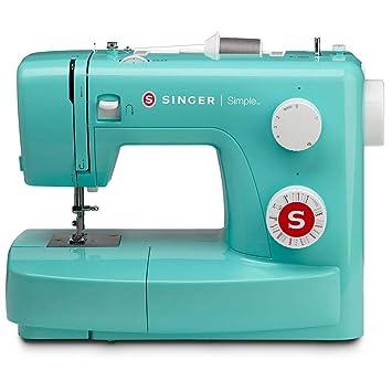 SINGER Simple 3223G - Máquina de coser (Turquesa, Máquina de coser semiautomática, Costura, Paso 4, Giratorio, Zigzag): Amazon.es: Hogar