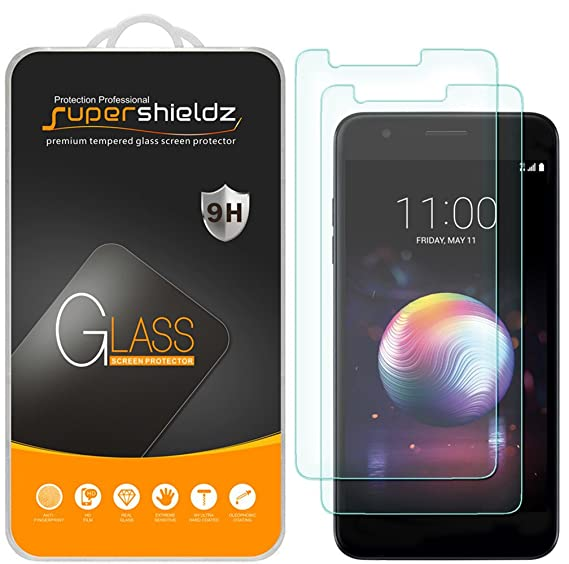 [2-Pack] Supershieldz for LG Premier Pro LTE Tempered Glass Screen  Protector, Anti-Scratch, Bubble Free, Lifetime Replacement
