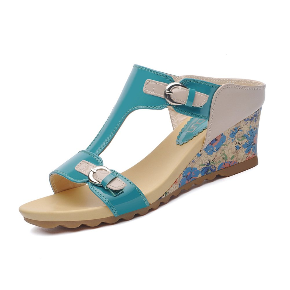 free shipping e41ed dac87 CAI Frauen Schuhe PU dick-unten Maumldchen Hausschuhe Sommer 2018 Neue  Mode Sandalen