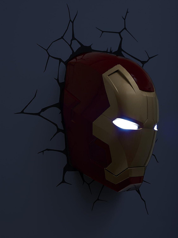 Bingua 3d light fx marvel iron man mask 3d deco led wall light 3d light fx marvel iron man mask 3d deco led wall light aloadofball Choice Image