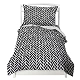 Black and White Duvet Covers Twin Black and White Duvet Cover Herringbone Design with Pillowcase by Where The Polka Dots Roam