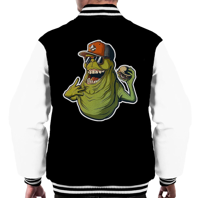 Slimer Life Ghostbusters Men's Varsity Jacket