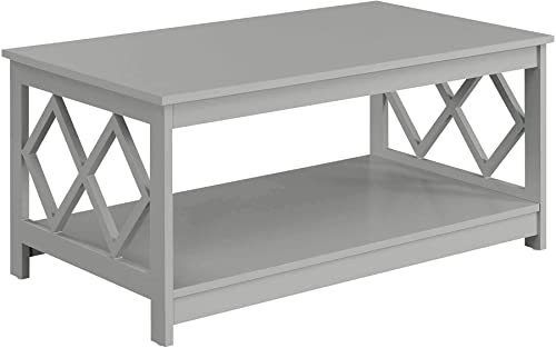 Convenience Concepts Diamond Coffee Table, Gray