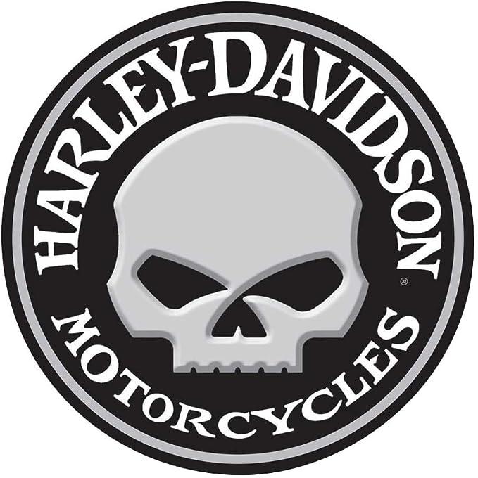 Harley Davidson Prägung Willie G Totenkopf Rund Blechschild 35 6 Cm 2011021
