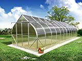 Climapod 9x28 6-MM Twin-Wall Polycarbonate Greenhouse, Virtue Complete kit