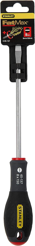 Stanley FatMax Schraubendreher Schlitz 0-65-098 Parallelspitze 5,5 mm, 100 mm Schwertl/änge, Chrom-Vanadium, Soft-Grip