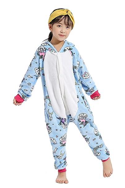 Crazy lin Pijamas Unicornio Niños Pijamas Unisex Niños Muchachas Fiesta de Dibujos Animados Desgaste de Disfraces