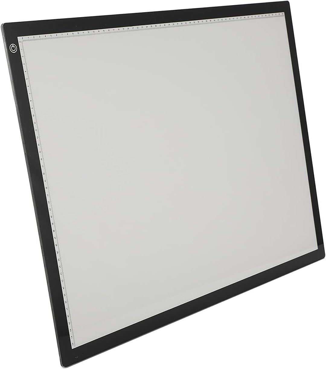 Gemeinsa LED Leuchttisch A2 Leuchtplatte Leuchtkasten dimmbare Leuchtrahmen Einstellbare Helligkeit LED Drawing Light Box Board Ultra D/ünn