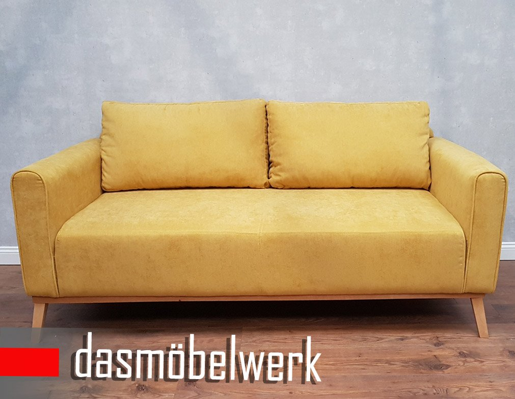 dasm belwerk sessel sitzm bel polsterm bel retro 3er sofa landhausstil sofas senf campus g nstig. Black Bedroom Furniture Sets. Home Design Ideas