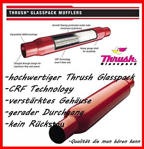 Silenciador Glasspack Muffler, de tubo de escape deportivo de 2,25 pulgadas (silenciador de escape para V8) 25pulgadas (silenciador de escape para V8) Magnaflow